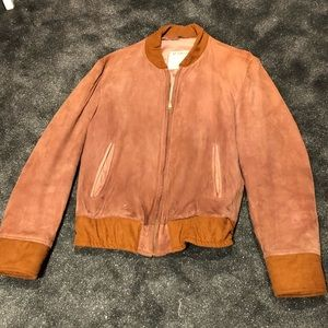 Vintage suede 70s bomber jacket